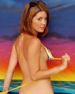 diddy in a string bikini